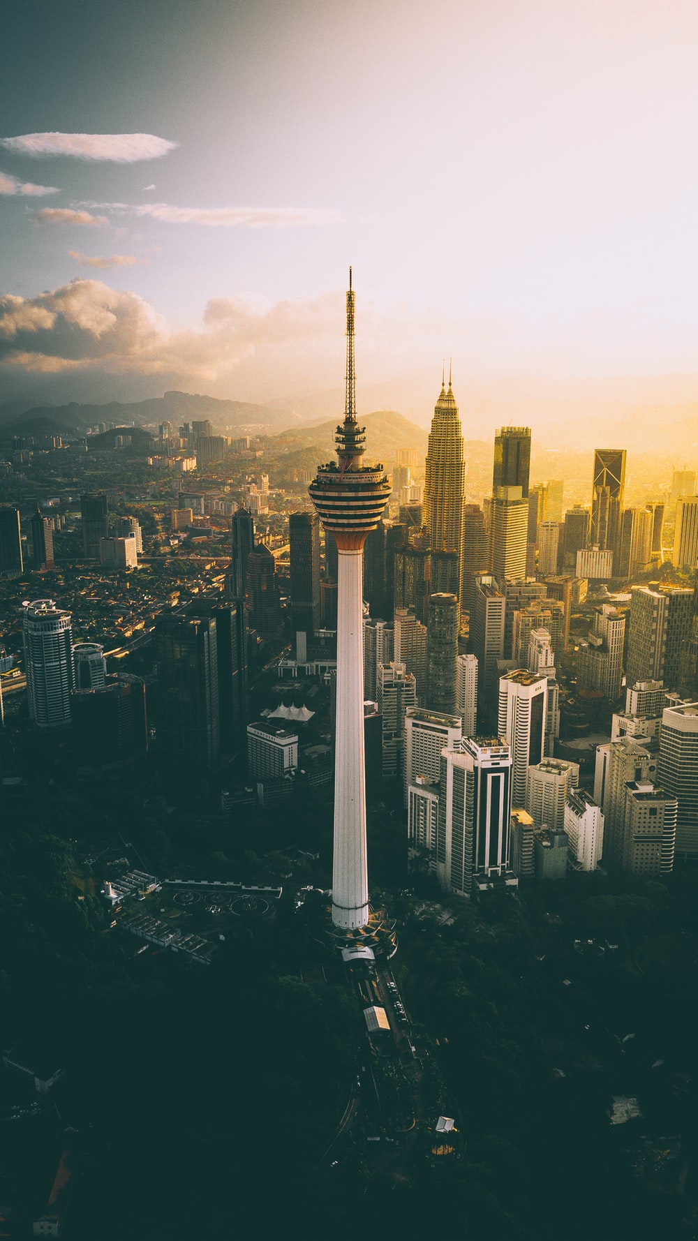 CN tower during golden hour
