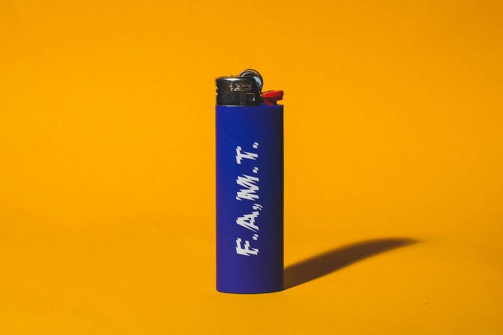 blue disposable lighter