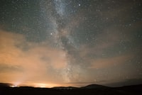 milky way galaxy at night time