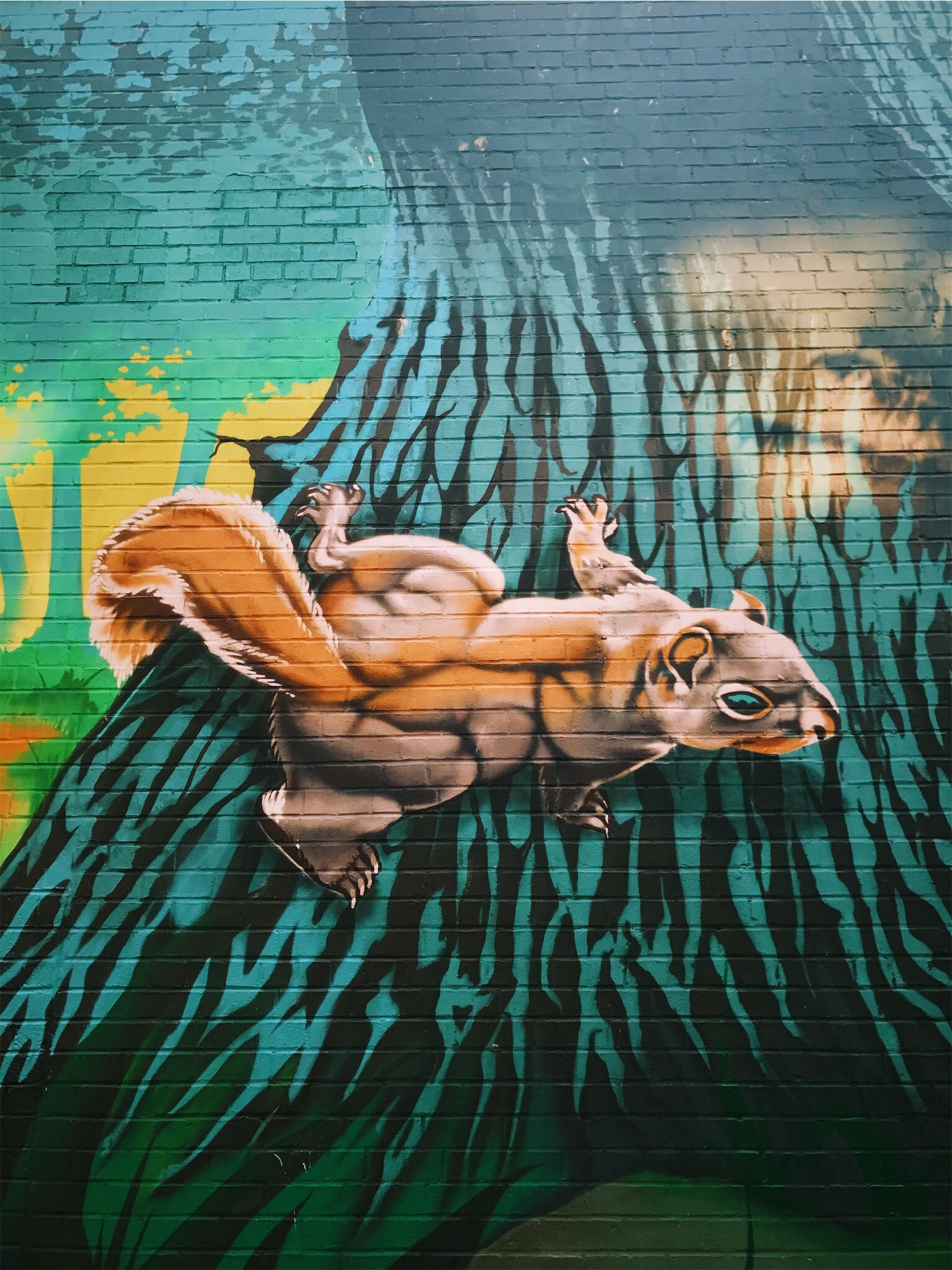 animal wall painted