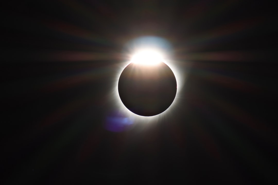 Sometimes at the end of a total solar eclipse, it is possible for a moment to see what looks like a diamond ring. This one is from the August, 2017 eclipse.