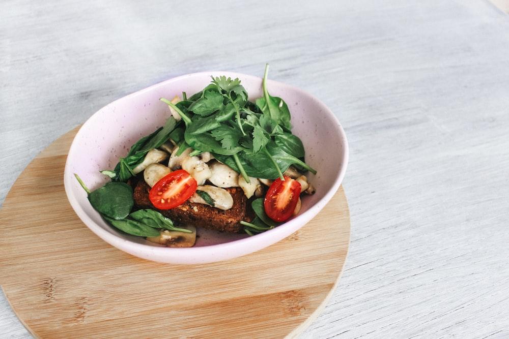 assorted vegetables on white ceramic bowl