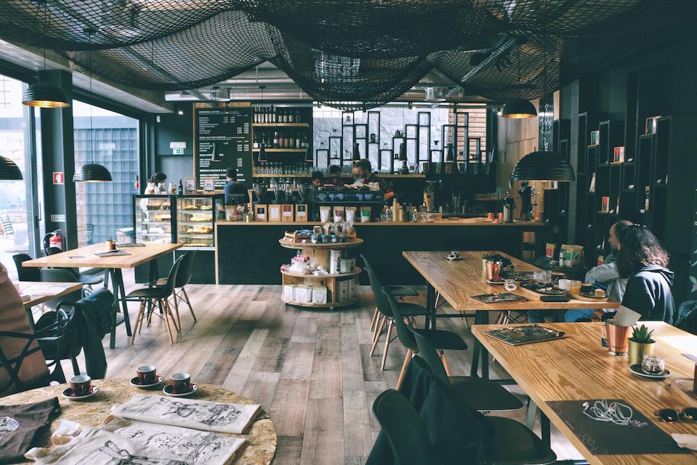 people inside cafe