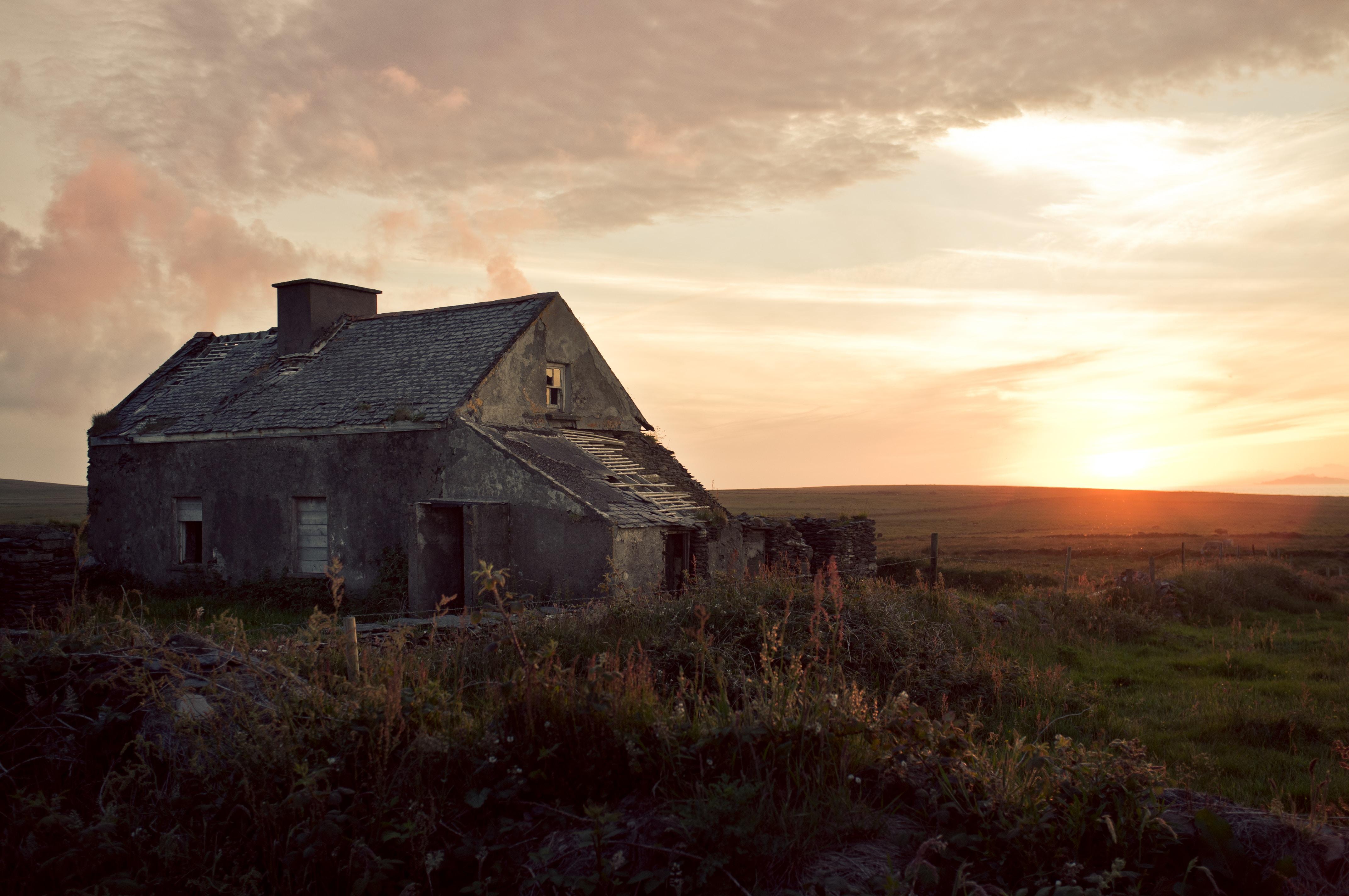 scenery of sunset