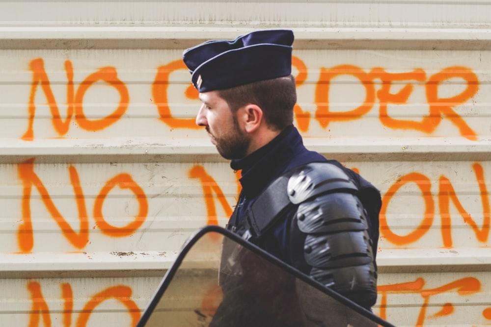 man wearing police uniform
