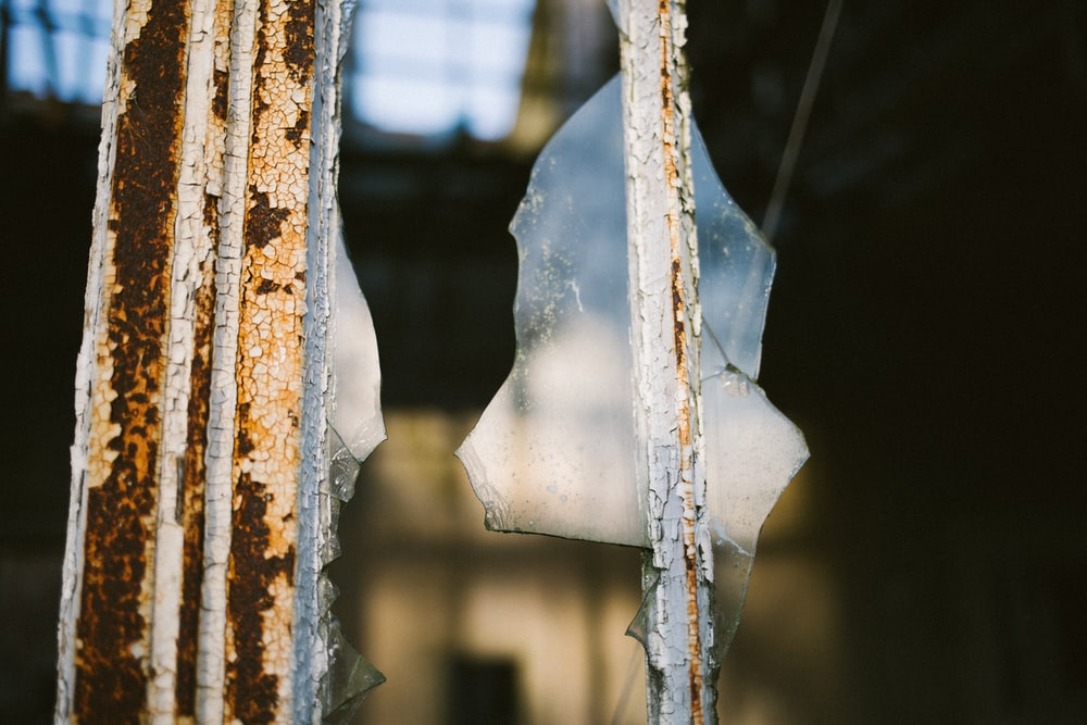 selective focus photography of broken glass