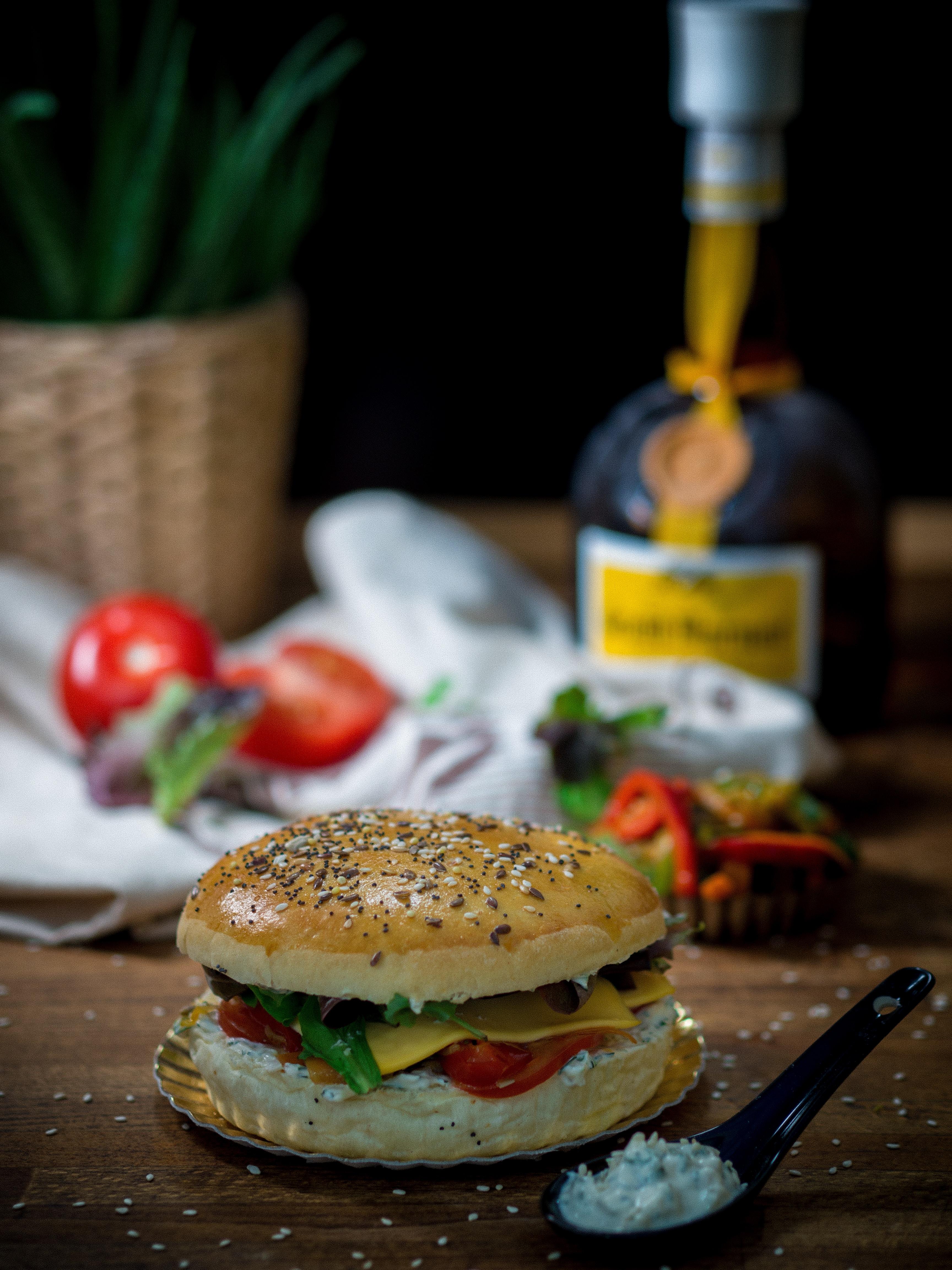 photography of hamburger