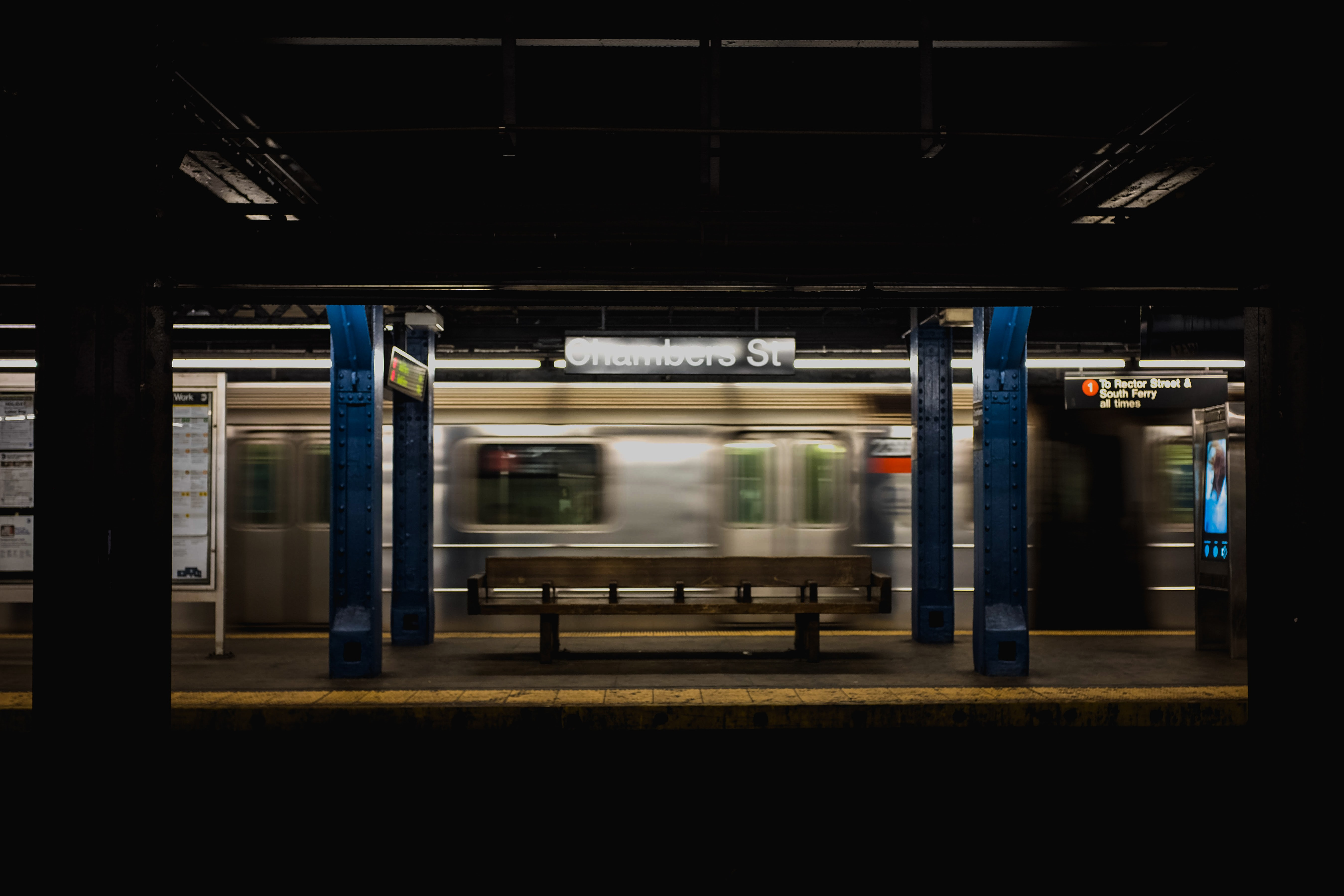 time lapse photography of subway train