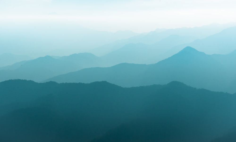 silhouette of mountain at daytime