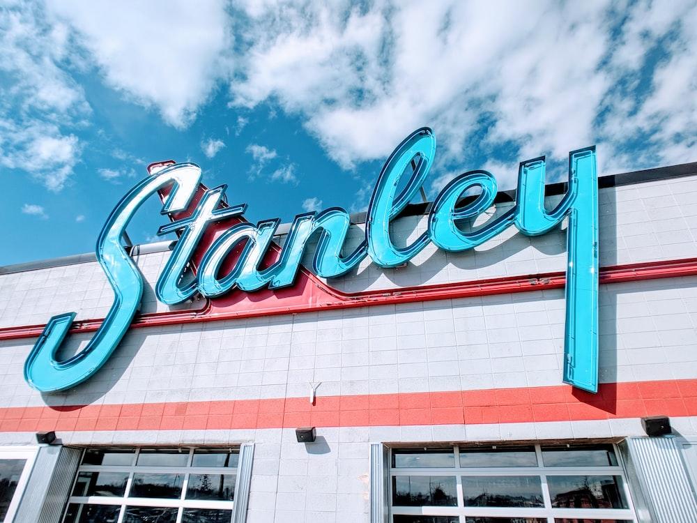 Stanley building signage