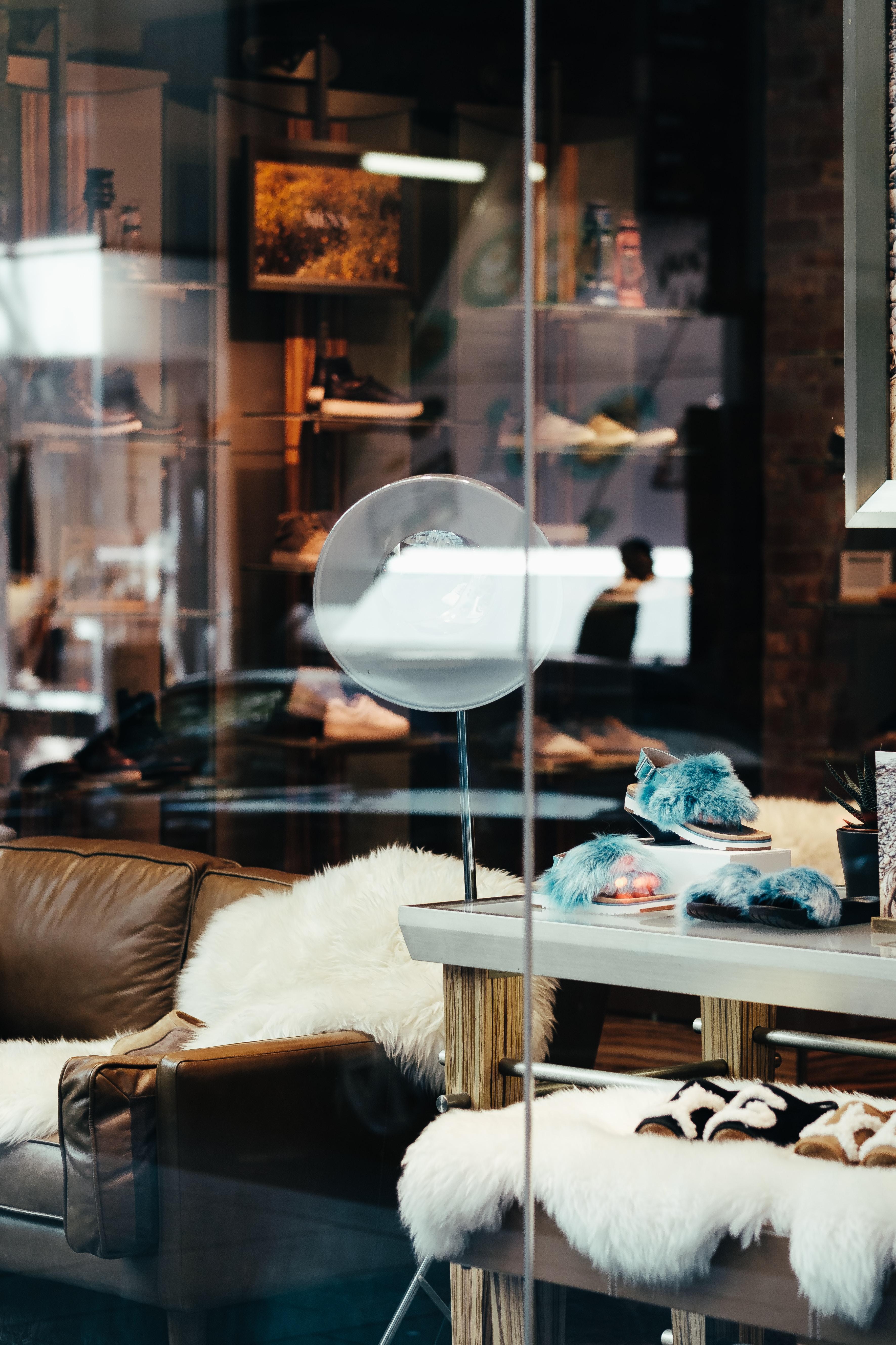 table lamp beside sofa