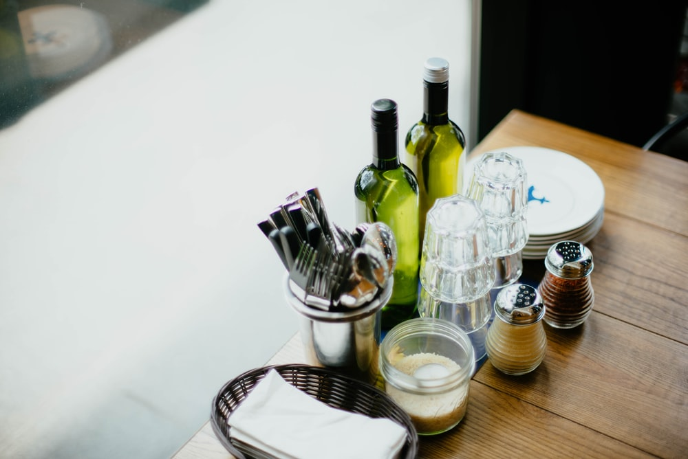 glass condiments shakers