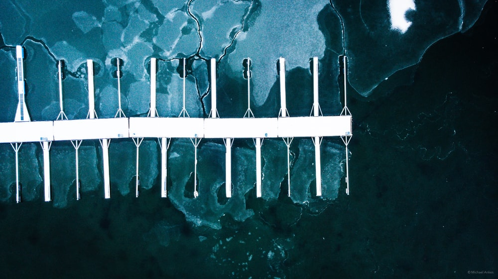aerial photography of boat dock at daytime