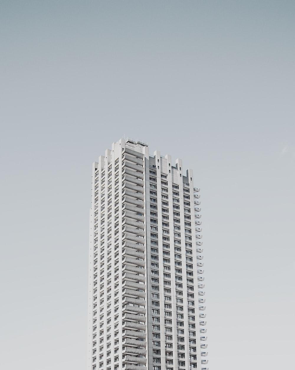 white concrete high-rise building