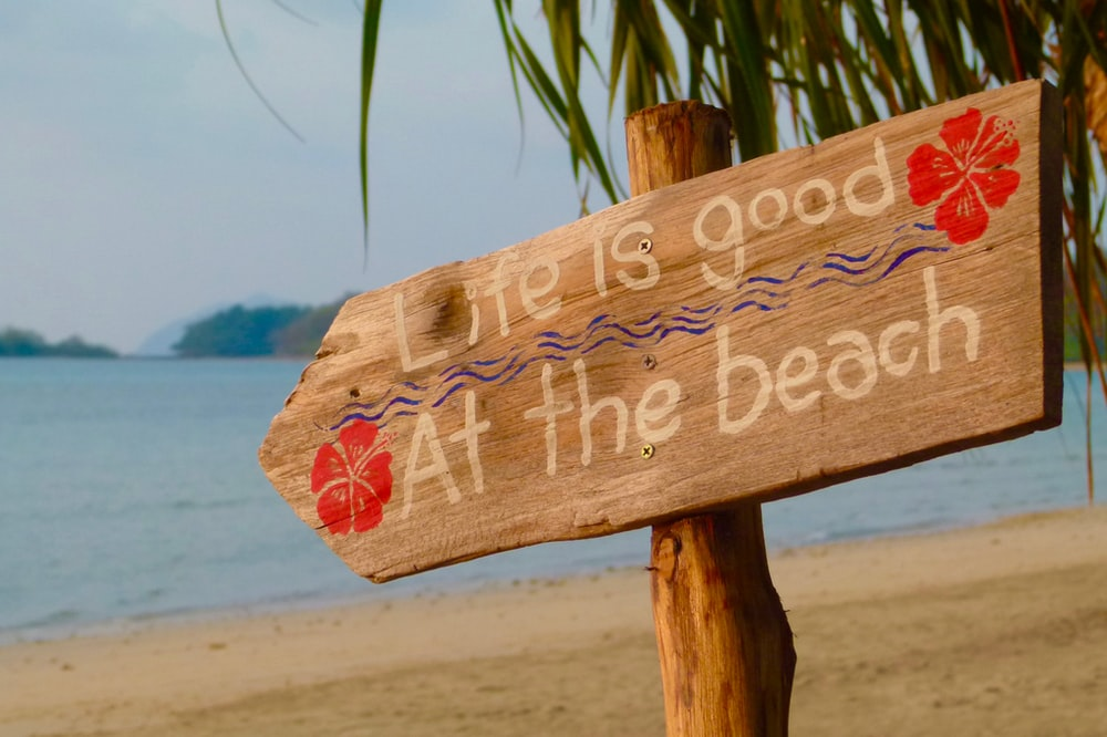 Life is good at the beach poster