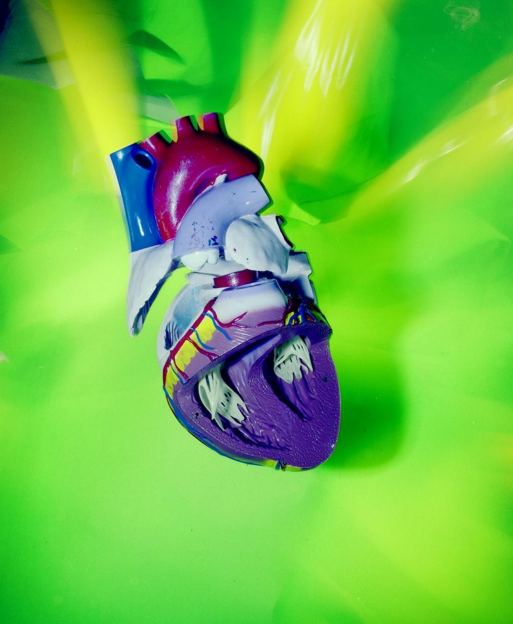 multicolored heart decor