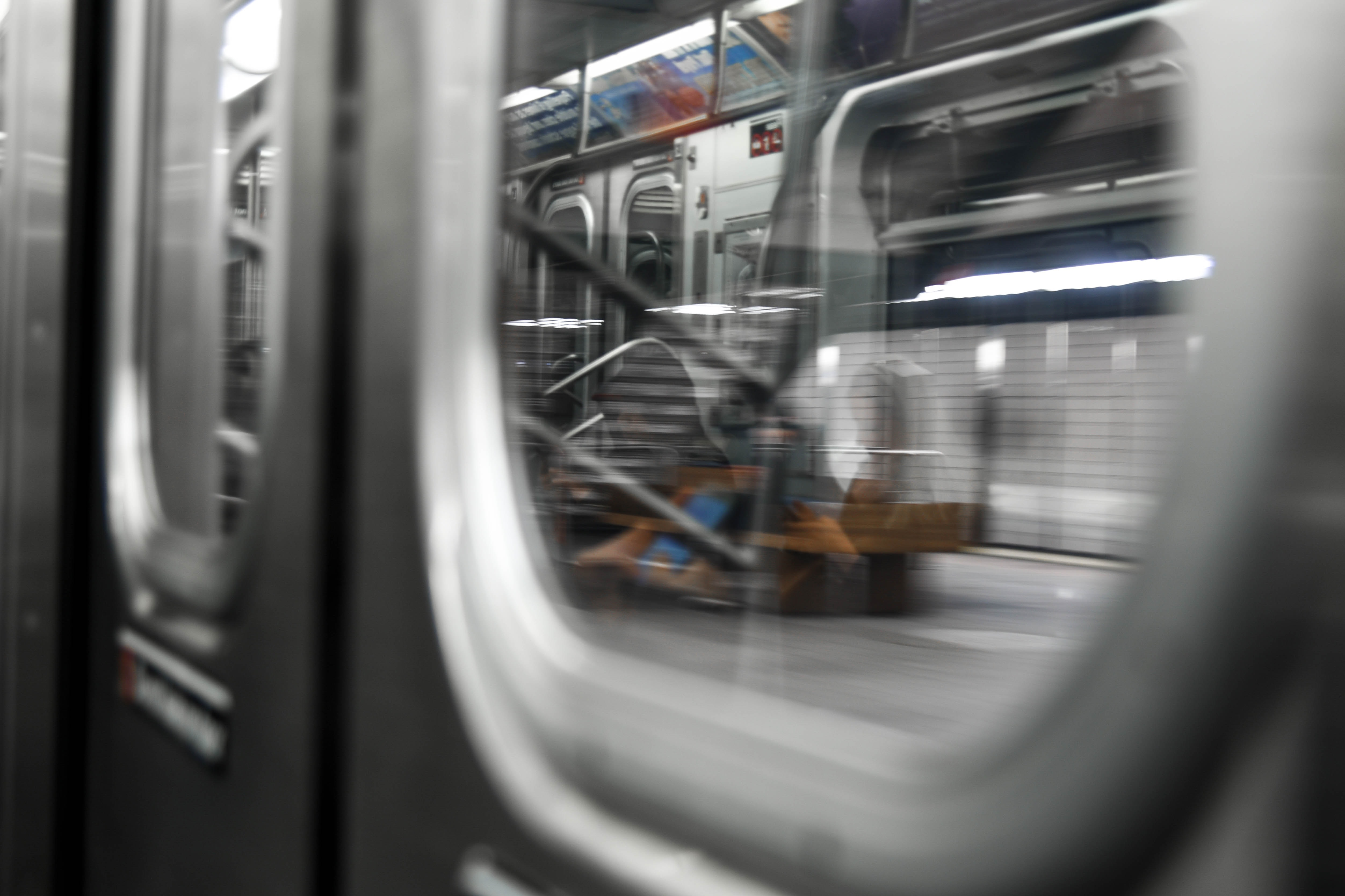 clear glass train window
