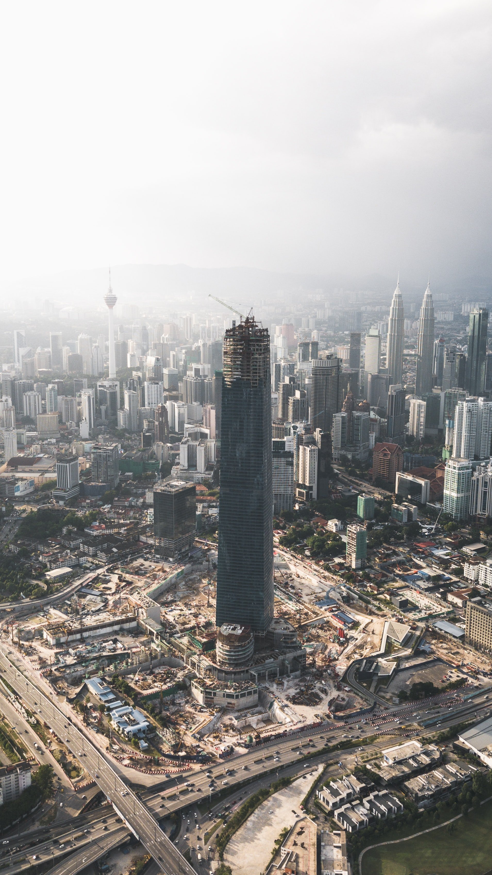 aerial photography of Malaysia skyline