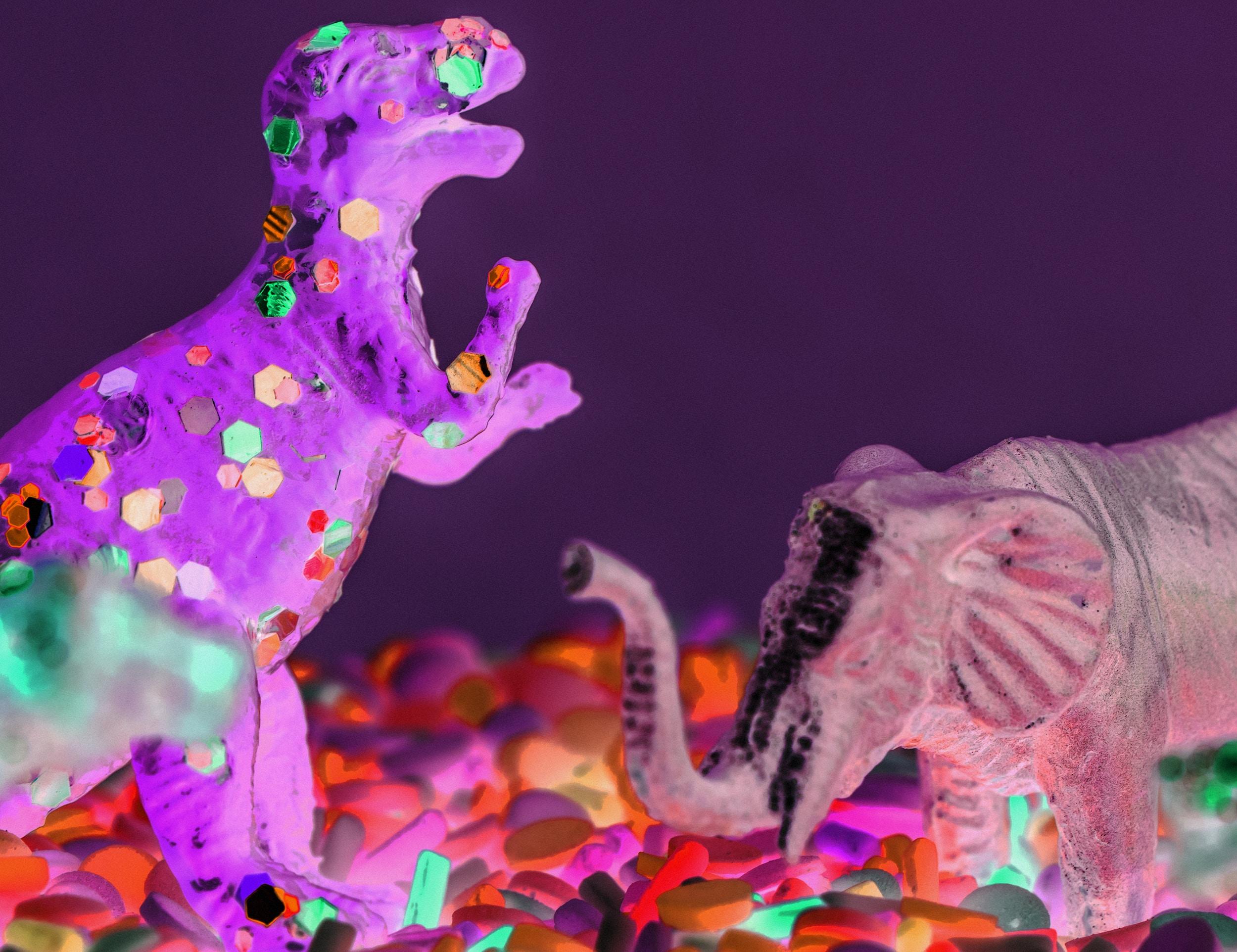 dinosaur and elephant toys