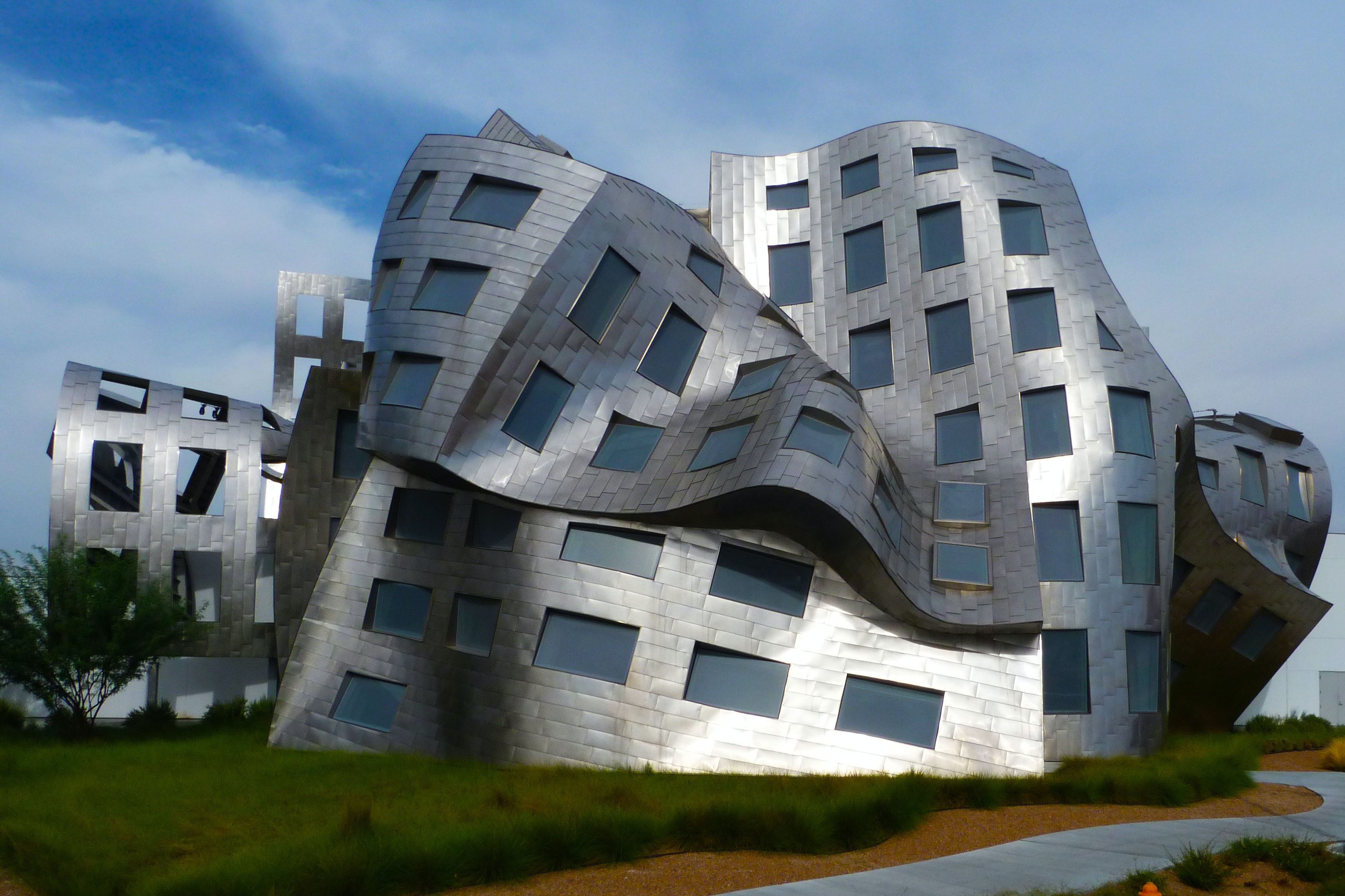 landscape photo of melted building