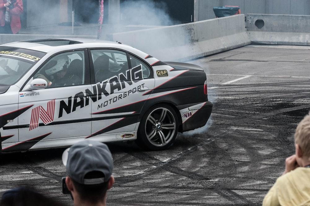 driver doing drift