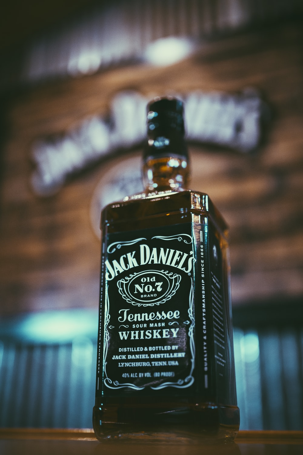 Jack Daniel's Tennessee glass bottle