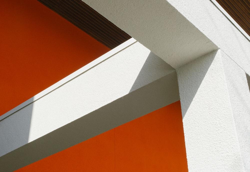 white concrete frame