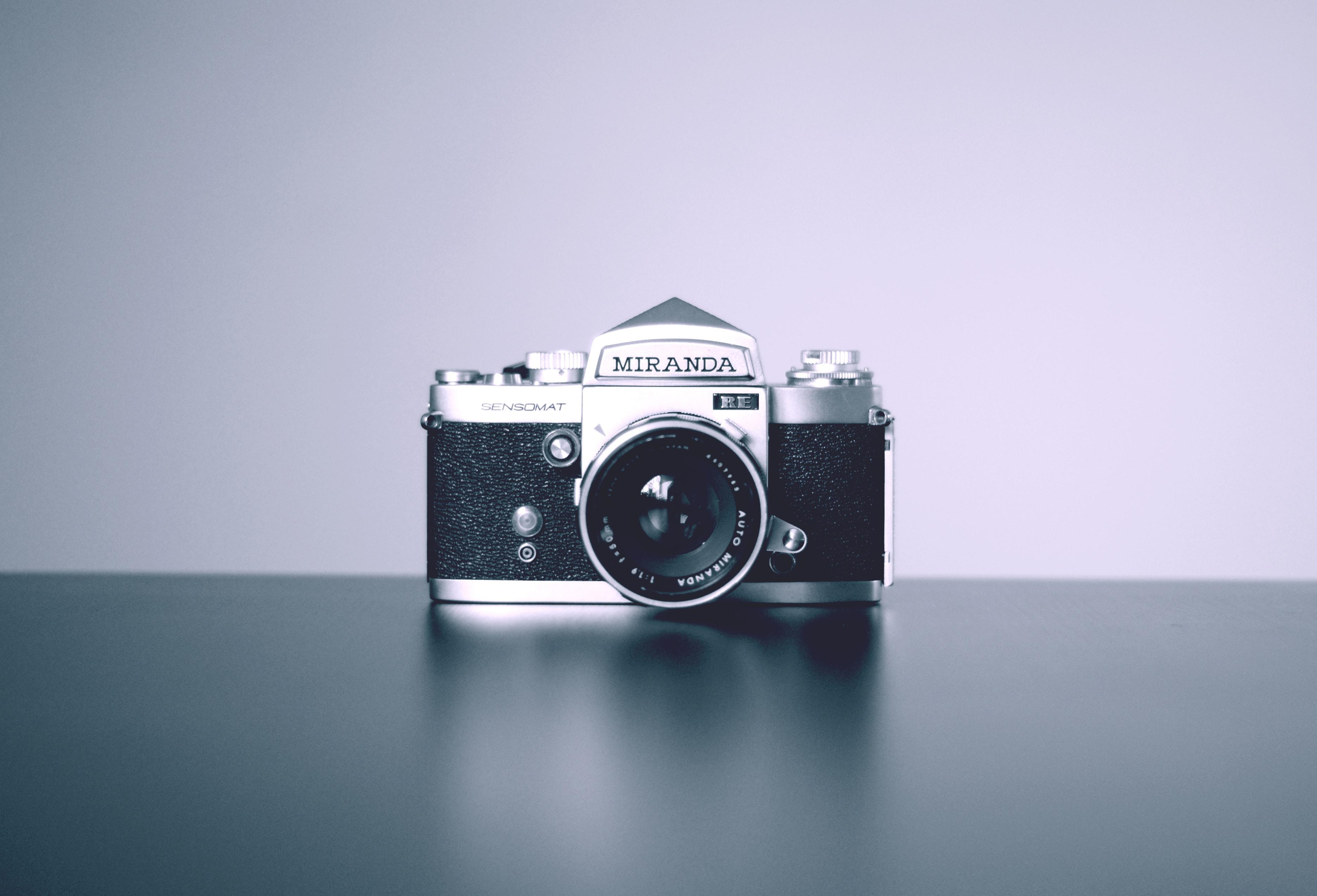 gray and black Miranda DSLR camera