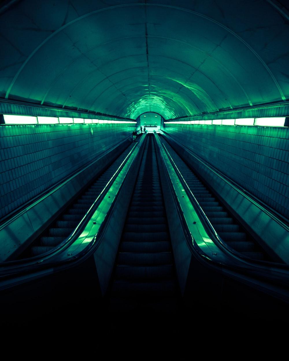 empty tunnel escalator