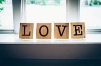 Love decor on the window