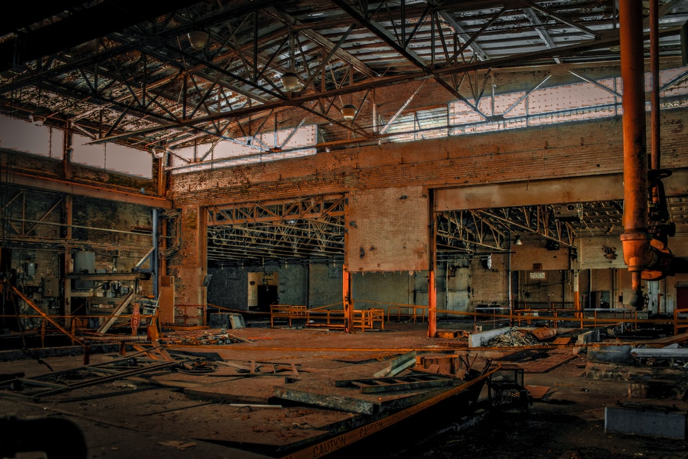 empty metal building