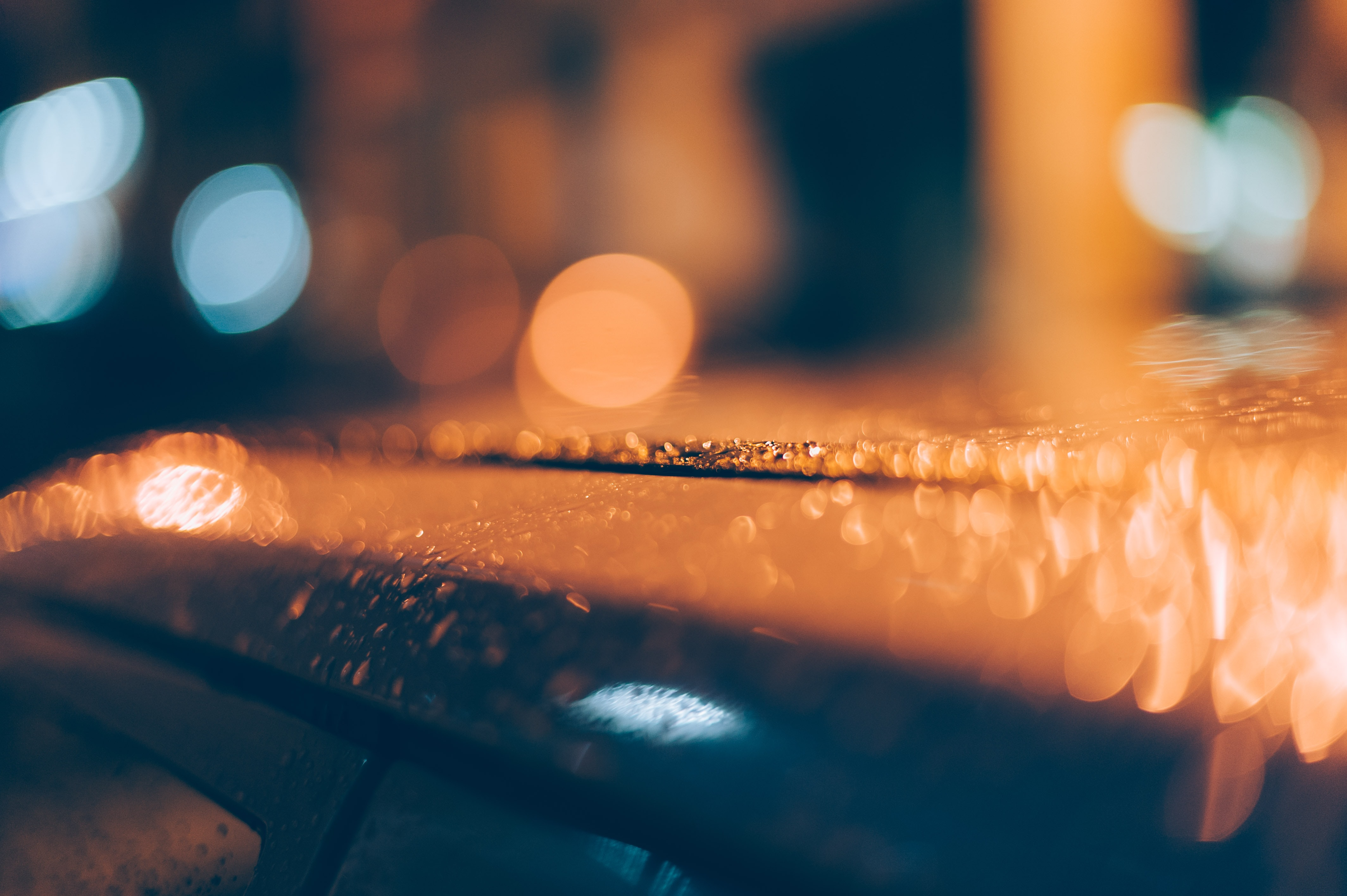 dew on roof of car bokeh photography