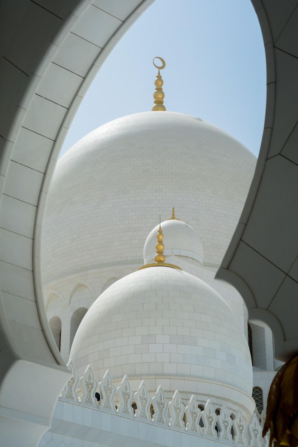 white dome mosque