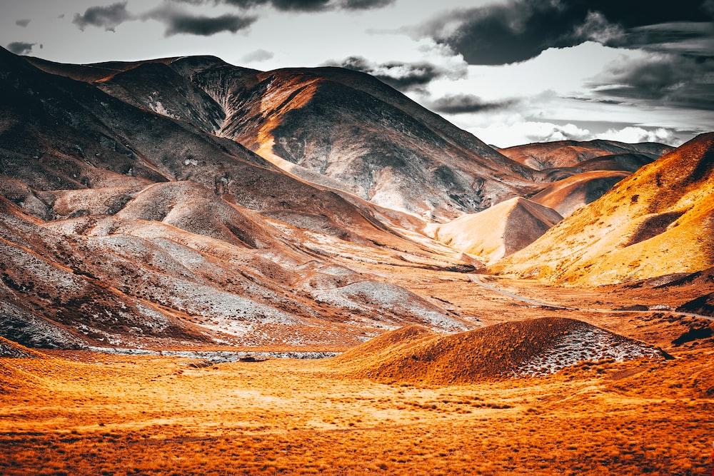 gray and orange mountain
