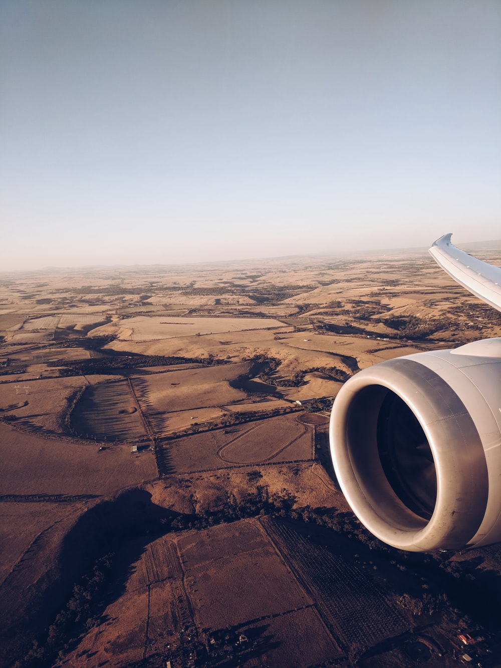 aerial photography of plane on air at daytime