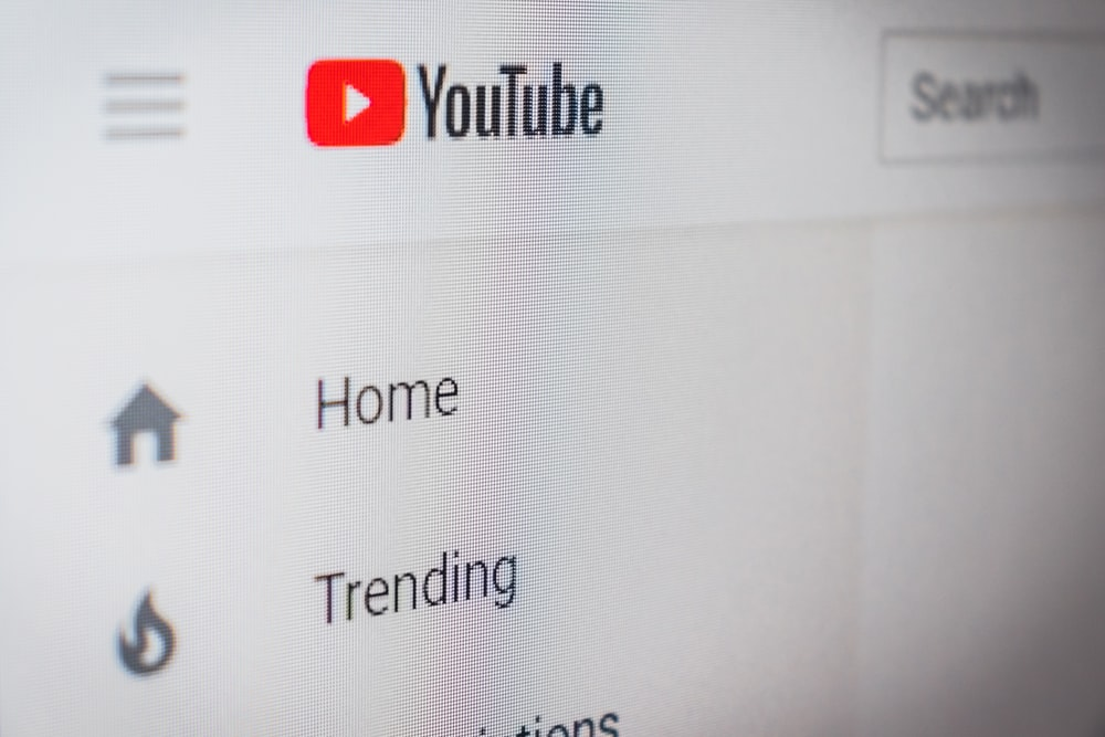 Youtube homescreen search bar