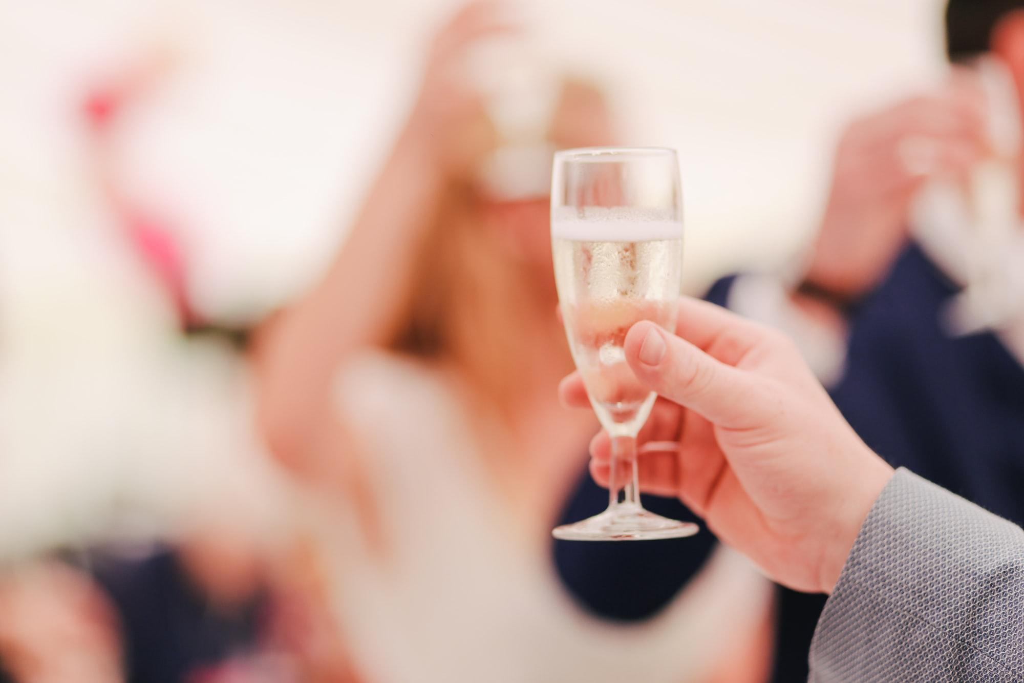 Wedding Reception Speech Toast Champagne