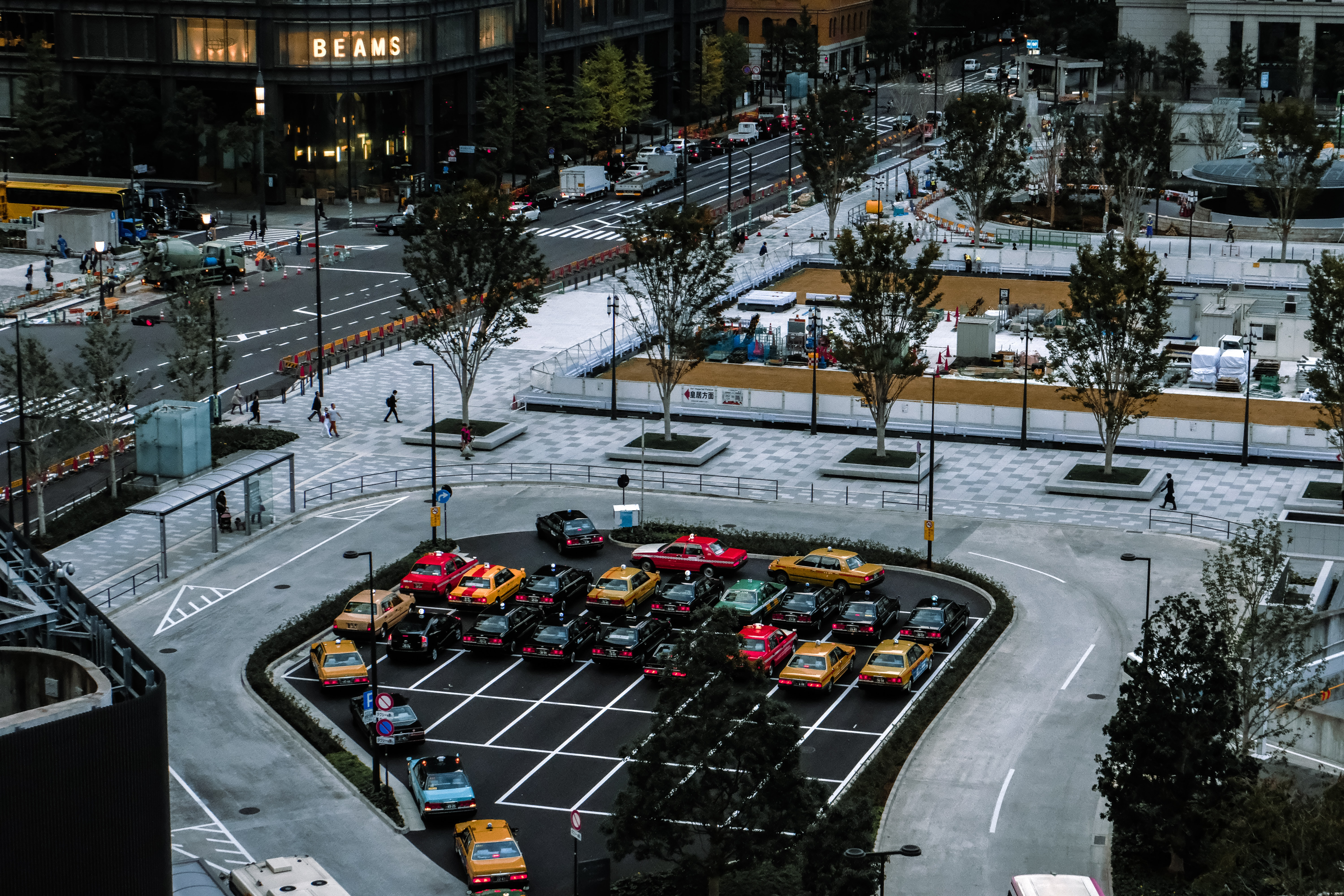 aerial photography of vehicles parked on parking lot
