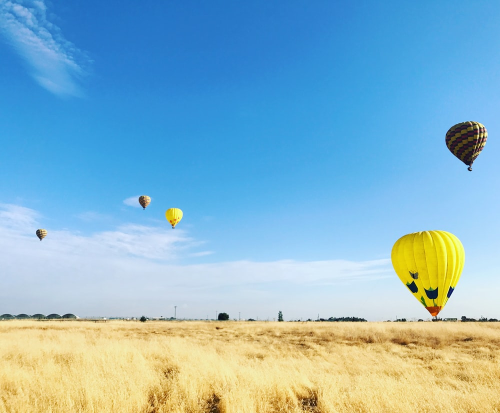 four on flight hot air balloons