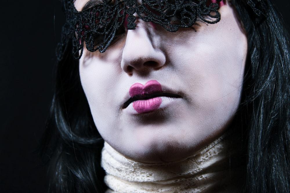 woman wearing eye covers