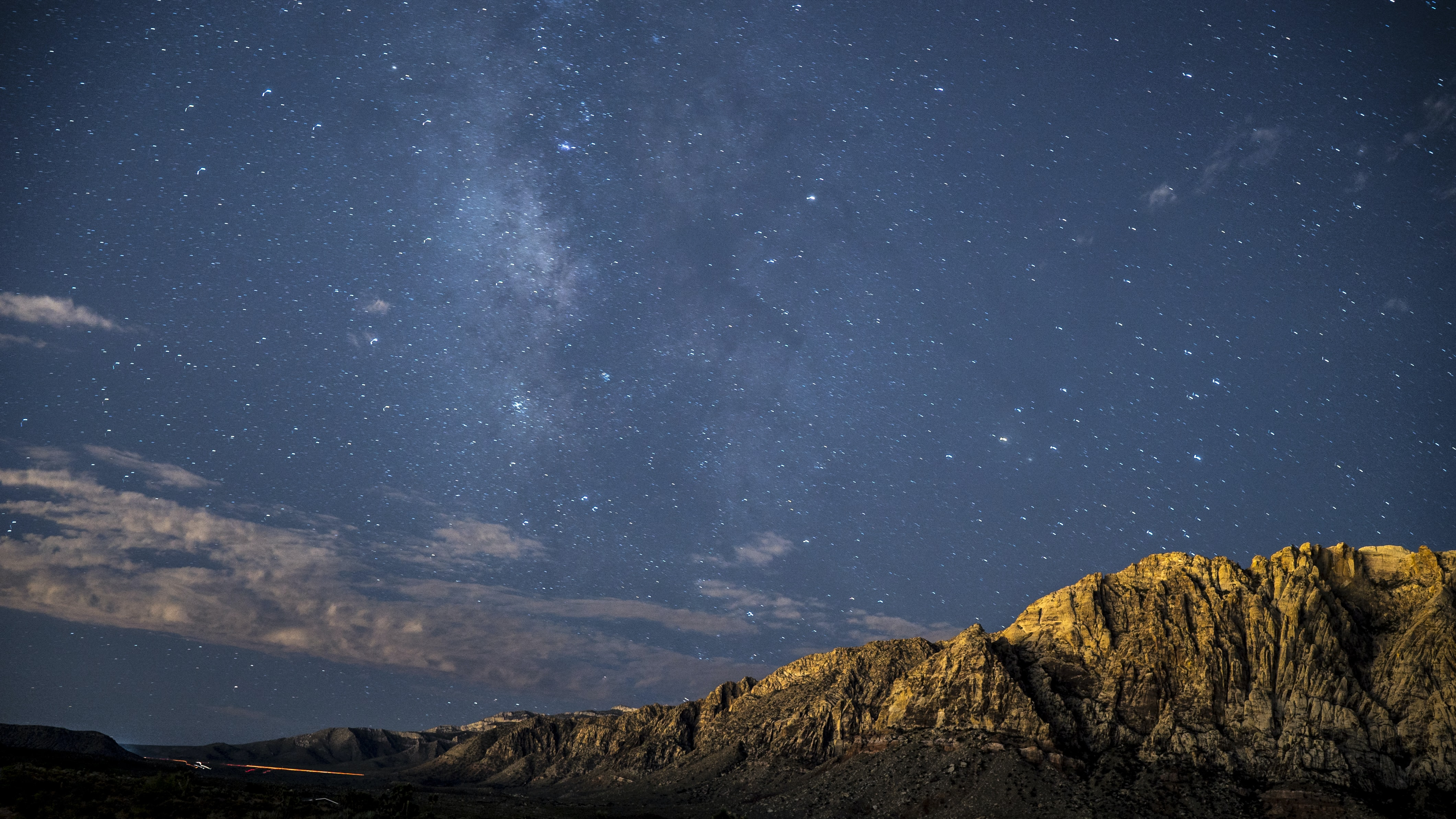 photo of brown mountains during nighttime