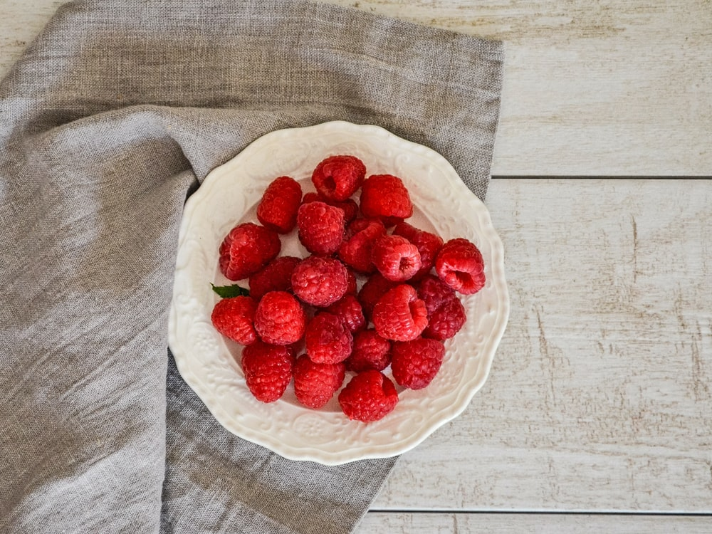 red berries on plate