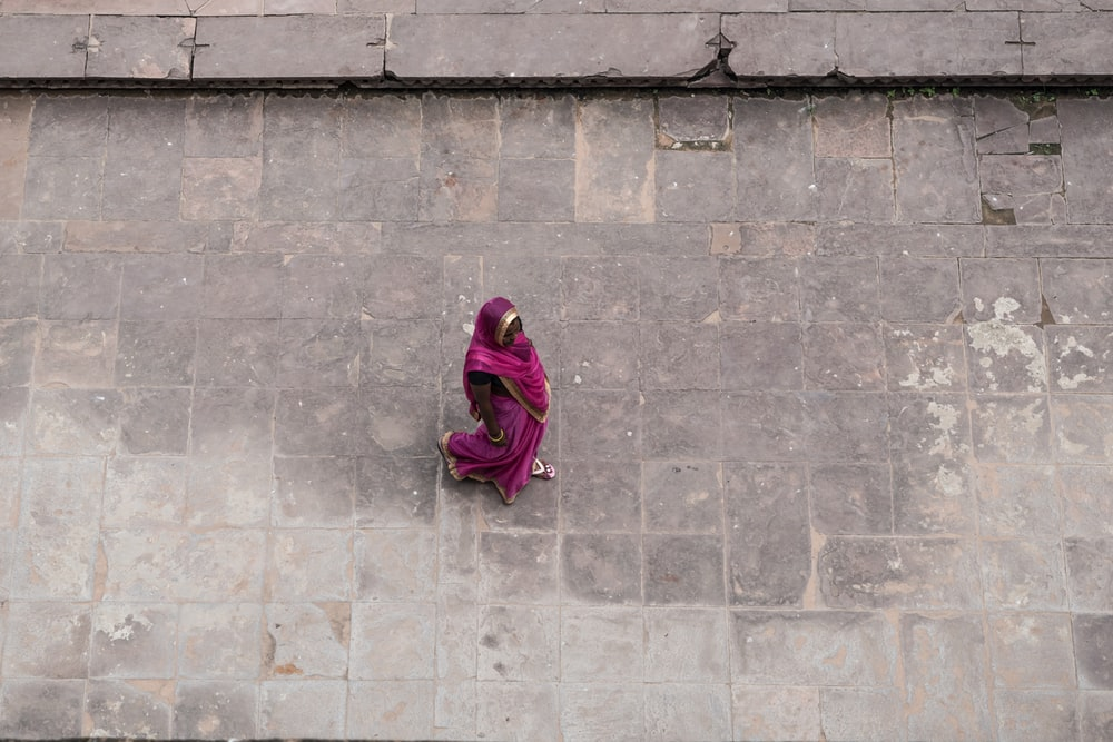 woman wearing headdres