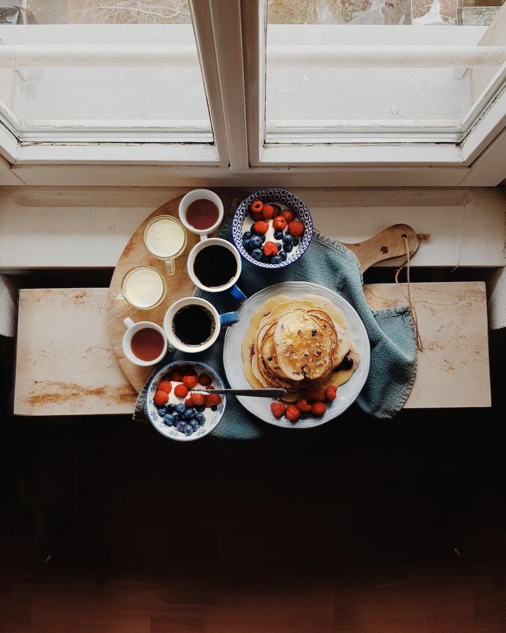 flatbread served on white plate