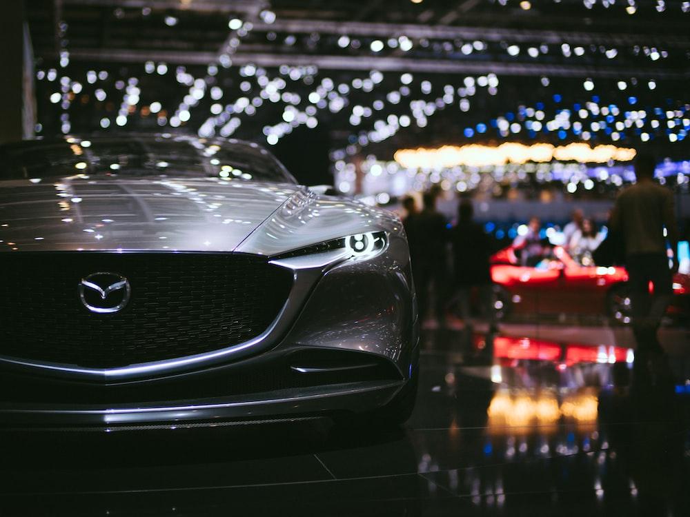 gray Mazda car
