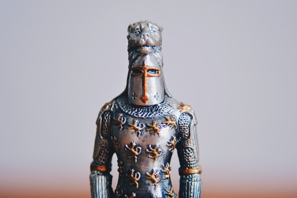 armored person outside