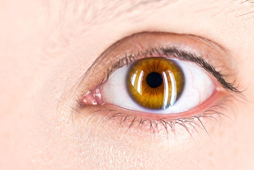 Focus on the eye. Closeup on eye. Pupil. Hazel.