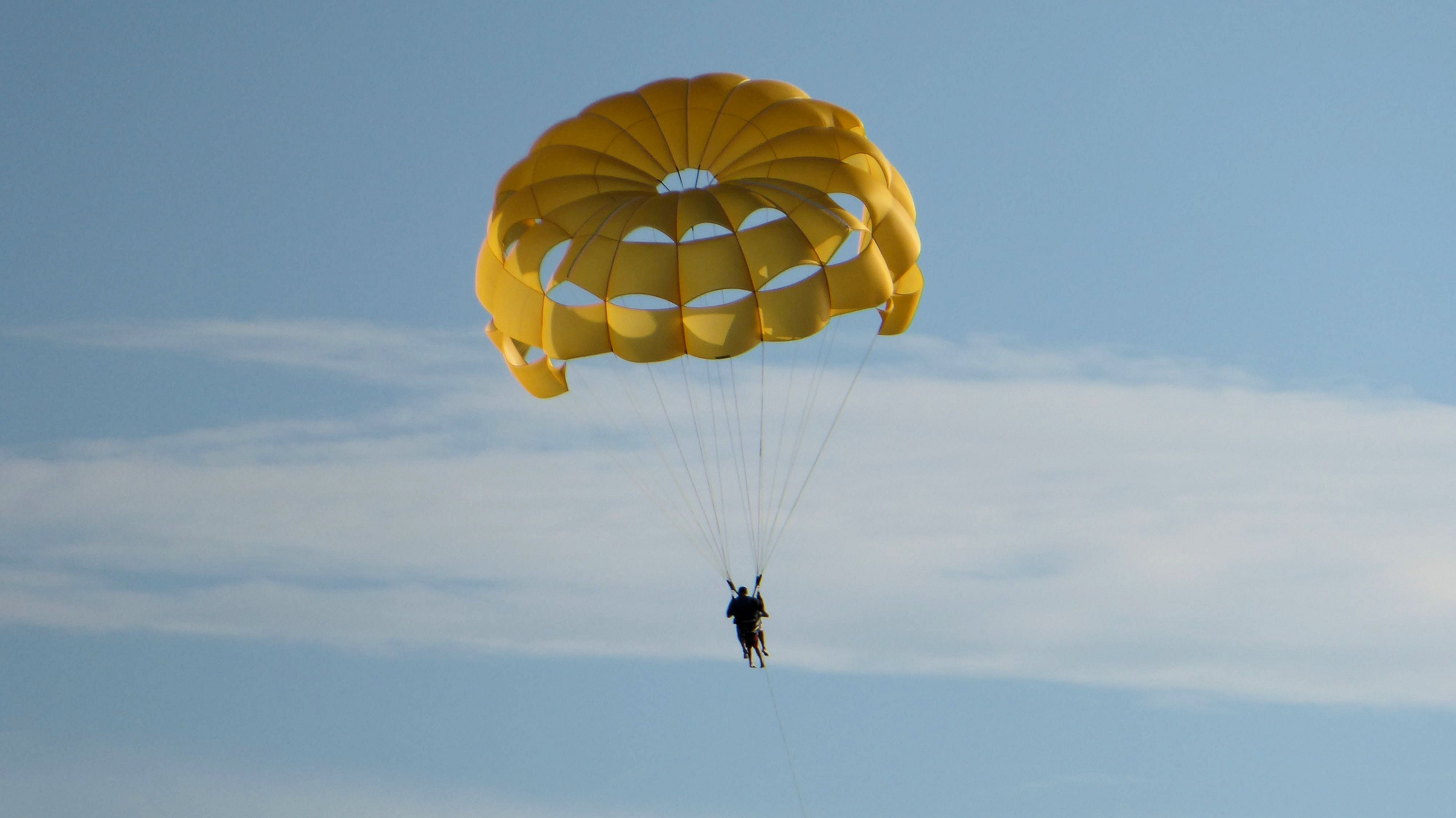 person on parachute