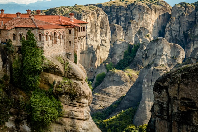 See Meteora in Snow, Places to Visit in Greece in January