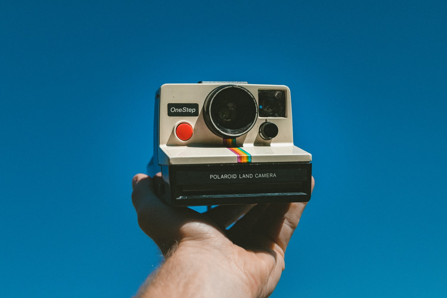 A person holding camera